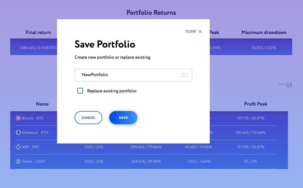 save crypto portfolio